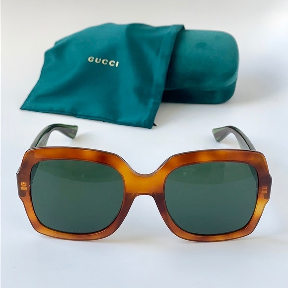 c9a5cf7cf1dc Gucci Accessories | Square Sunglasses Gg0036s 003 Havana Green ...